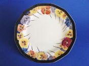 Large Royal Doulton 'Pansies' Art Deco Cake Plate D4049 c1925